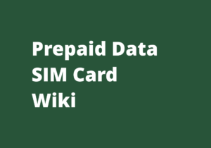 Prepaid Data SIM Card Wiki